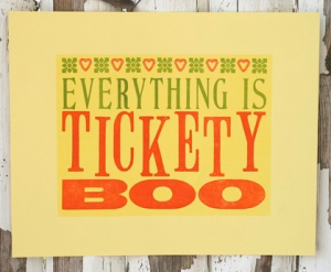tickety boo meaning